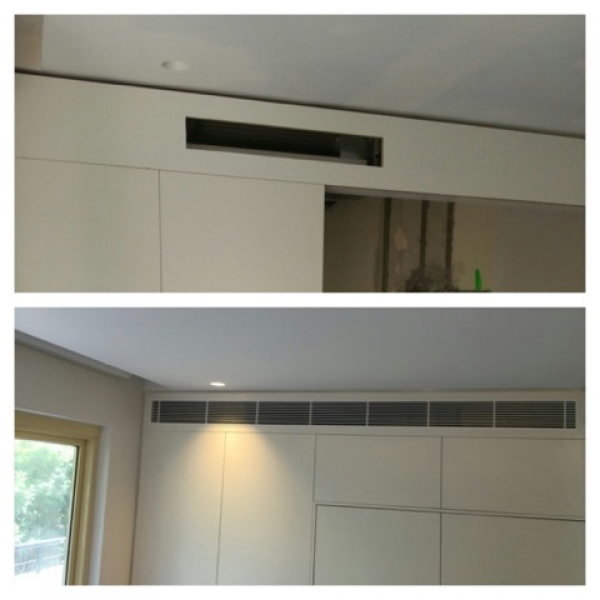 Ducted air conditoning before & after