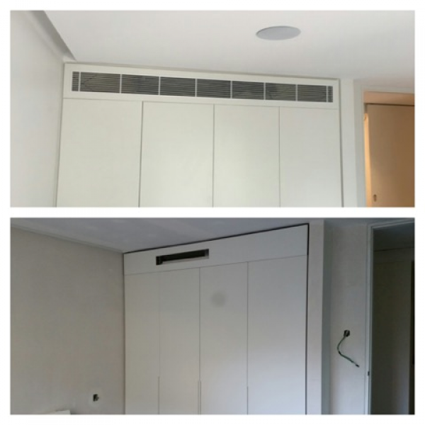 Ducted airconditoning before & after